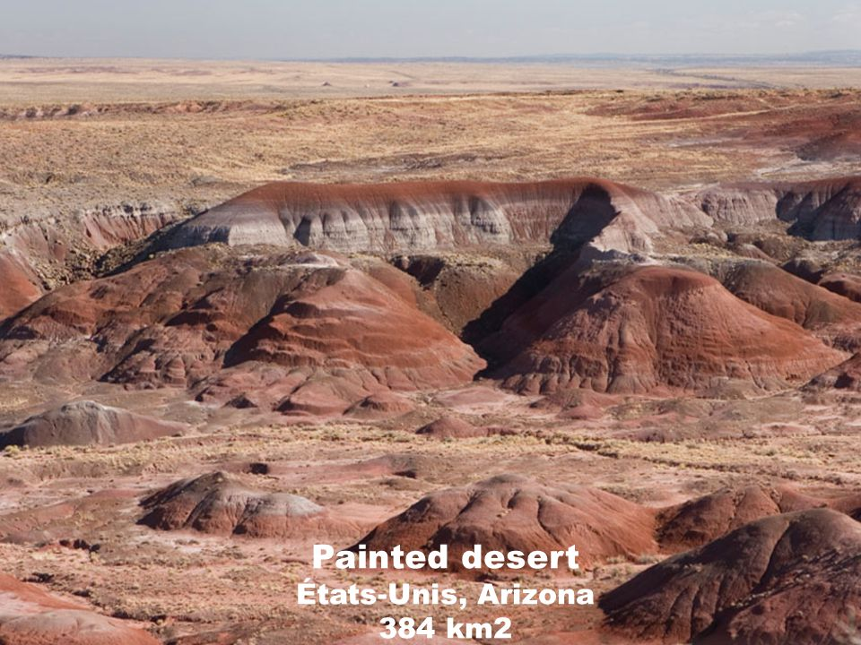 Painted desert États-Unis, Arizona 384 km2