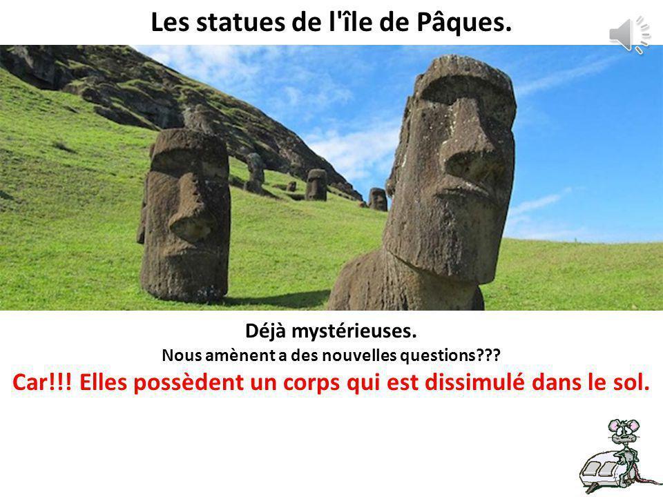 Les statues de l île de Pâques.