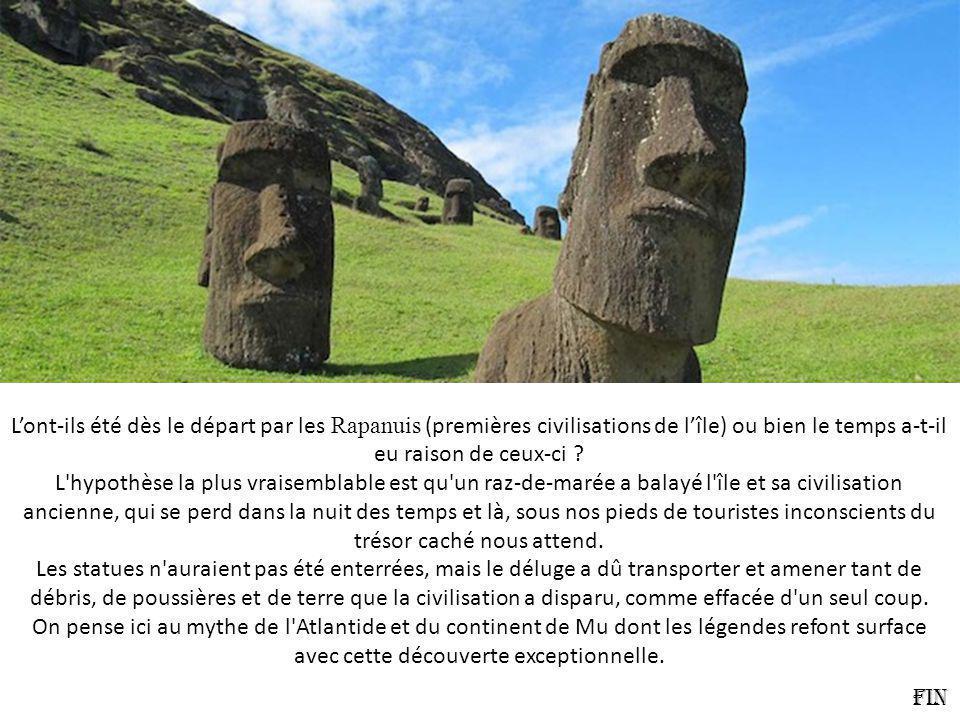 L'ont-ils été dès le départ par les Rapanuis (premières civilisations de l'île) ou bien le temps a-t-il eu raison de ceux-ci