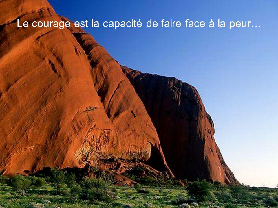 Le courage est la capacité de faire face à la peur…