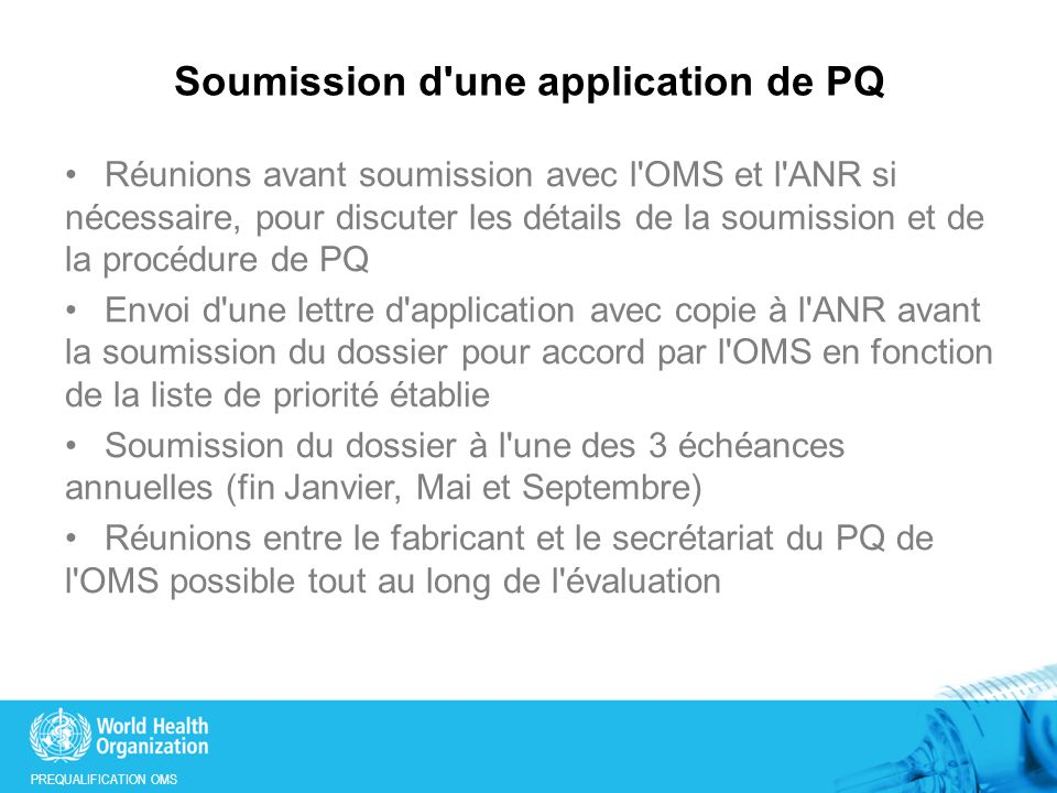 Soumission d une application de PQ