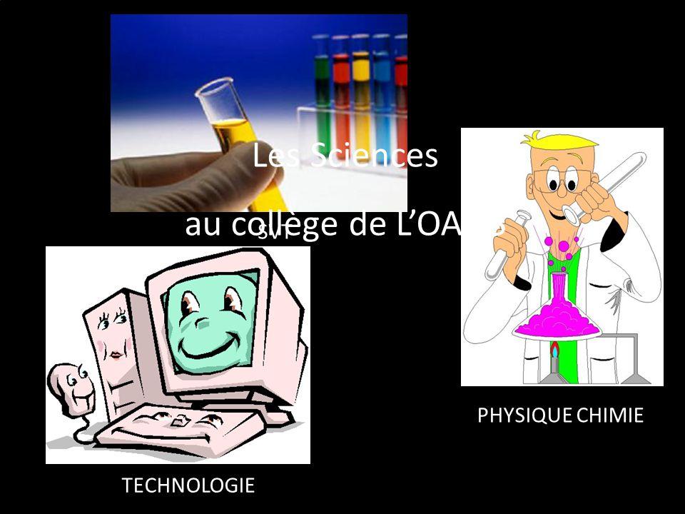 Les Sciences au collège de L'OASIS SVT PHYSIQUE CHIMIE TECHNOLOGIE 1