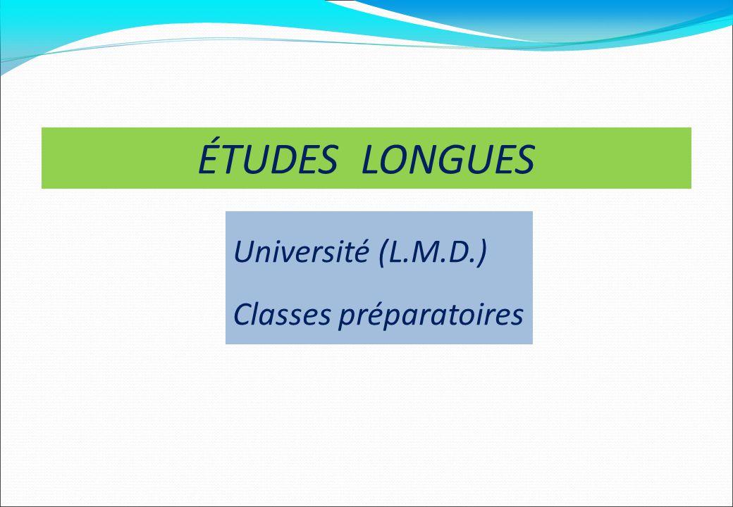ÉTUDES LONGUES Université (L.M.D.) Classes préparatoires 18