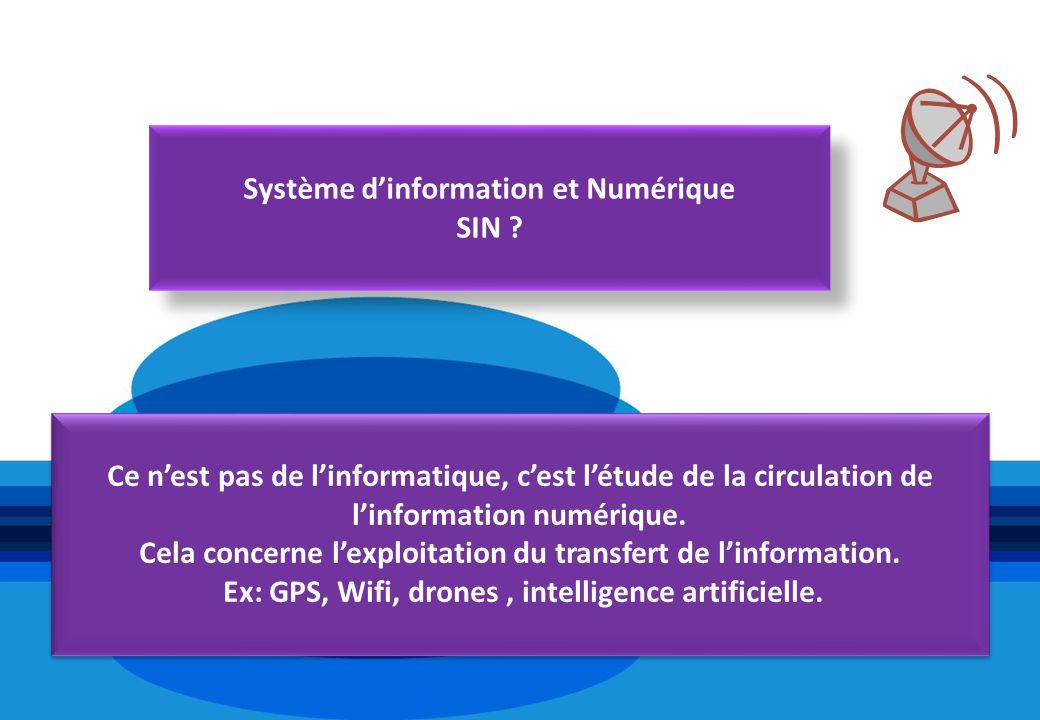 Système d'information et Numérique SIN