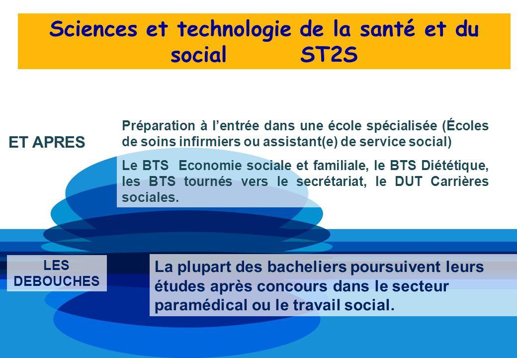 Sciences et technologie de la santé et du social ST2S