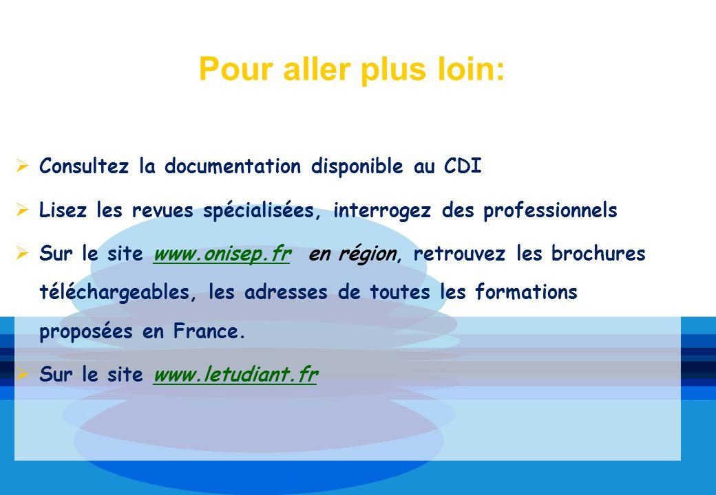 Pour aller plus loin: Consultez la documentation disponible au CDI
