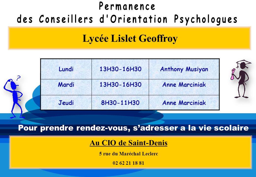 des Conseillers d Orientation Psychologues 5 rue du Maréchal Leclerc