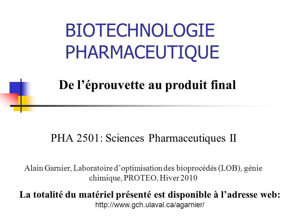 BIOTECHNOLOGIE PHARMACEUTIQUE