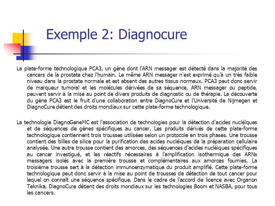 Exemple 2: Diagnocure