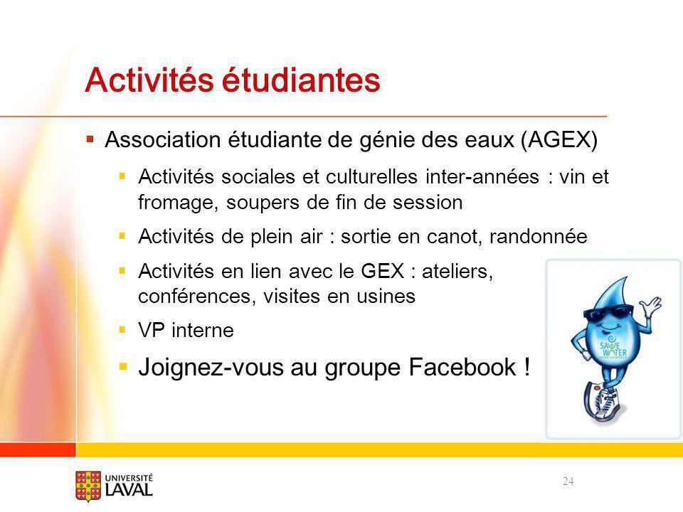 Activités étudiantes Joignez-vous au groupe Facebook !