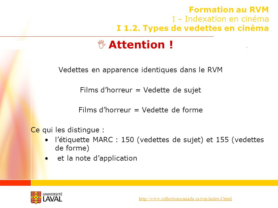 Formation au RVM I – Indexation en cinéma I 1. 2