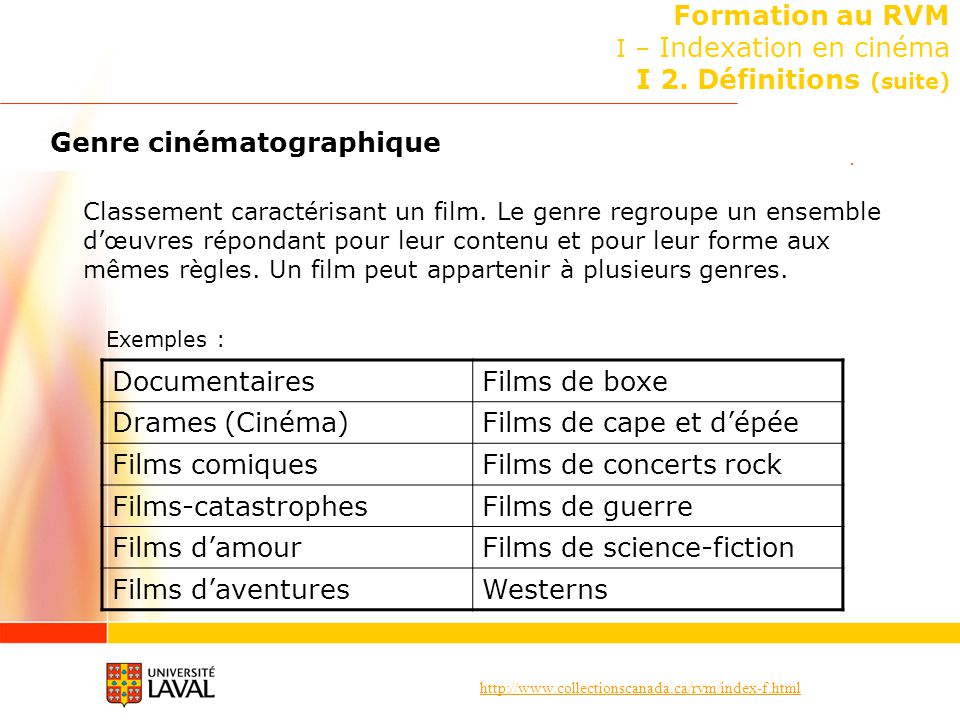 Formation au RVM I – Indexation en cinéma I 2. Définitions (suite)