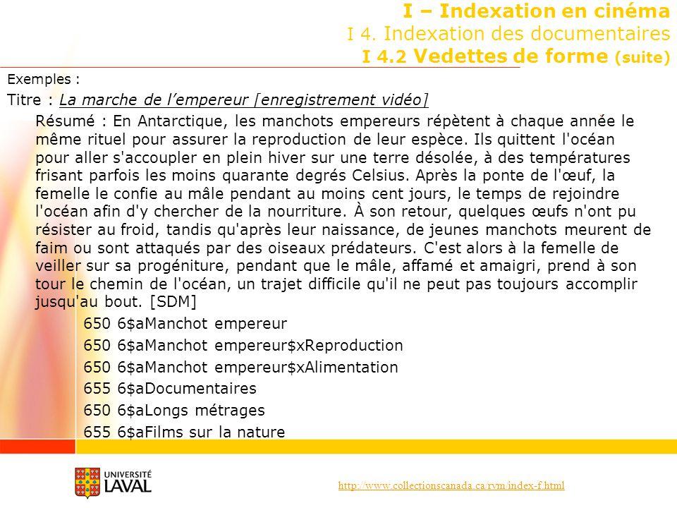 I – Indexation en cinéma I 4. Indexation des documentaires I 4