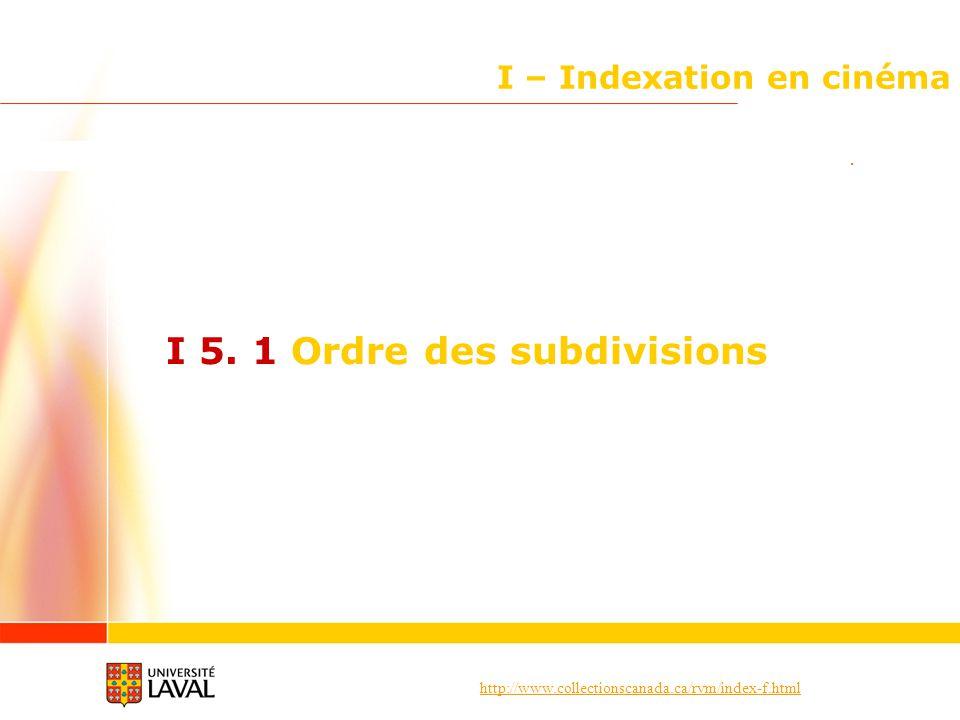 I – Indexation en cinéma