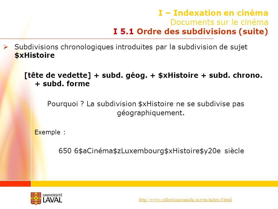 I – Indexation en cinéma Documents sur le cinéma I 5