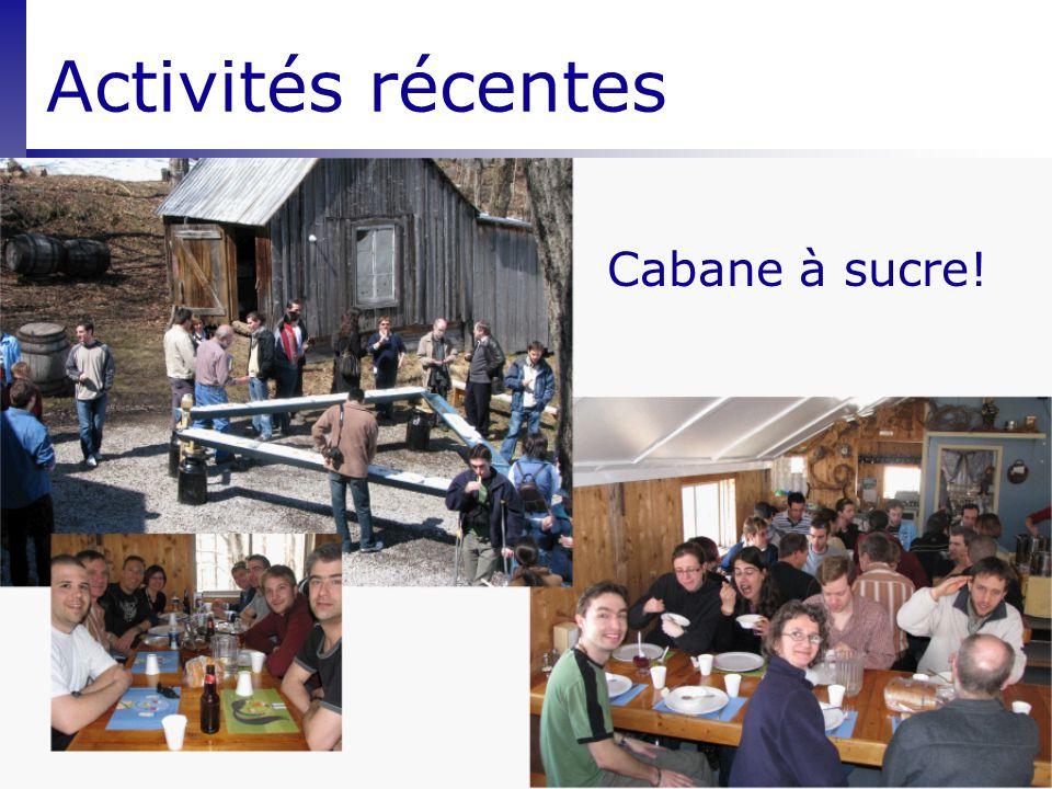 Activités récentes Cabane à sucre!