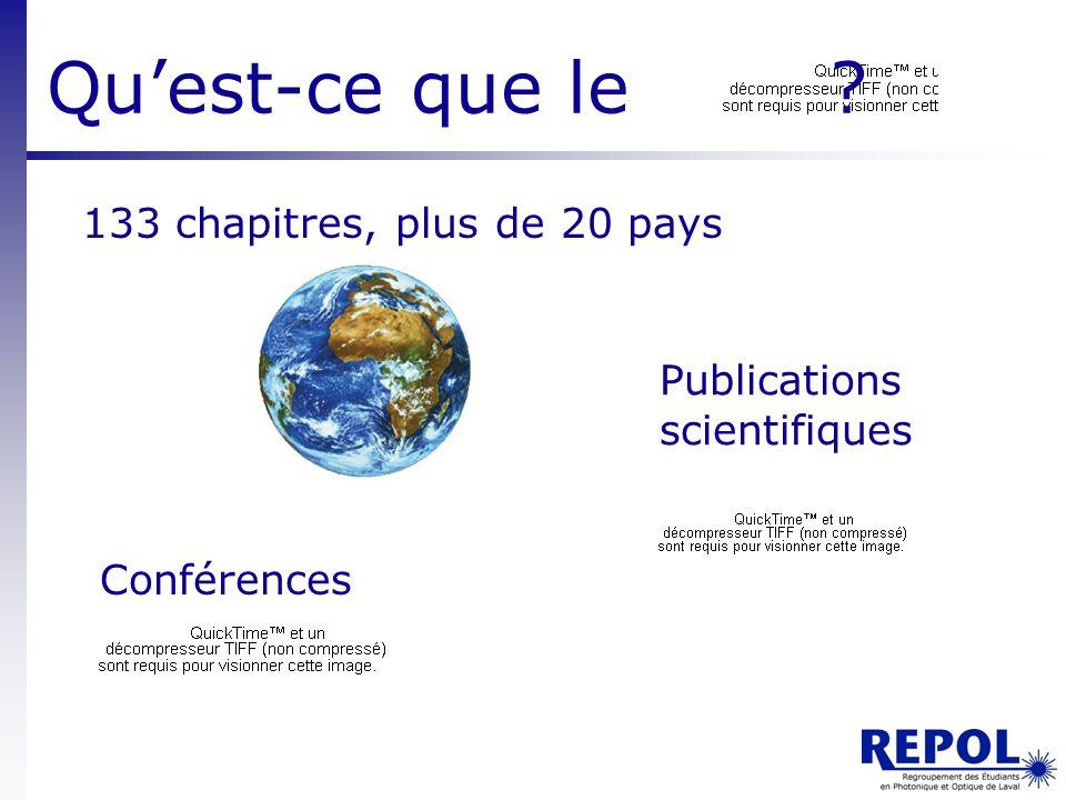 Qu'est-ce que le 133 chapitres, plus de 20 pays