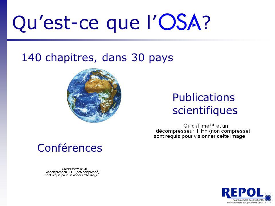 Qu'est-ce que l' 140 chapitres, dans 30 pays