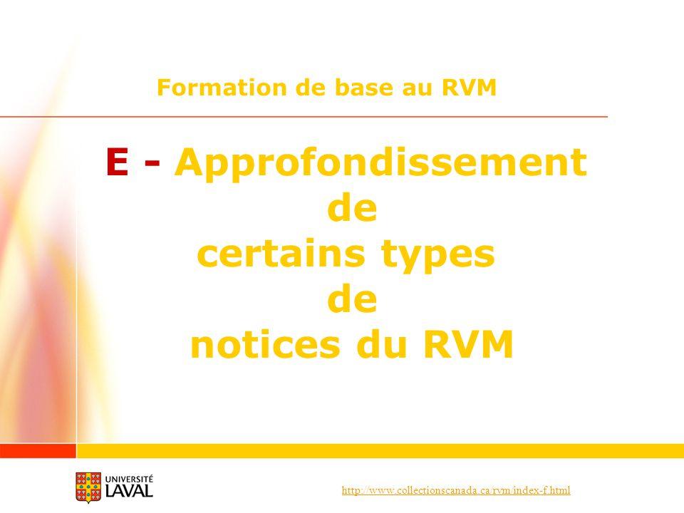 Formation de base au RVM