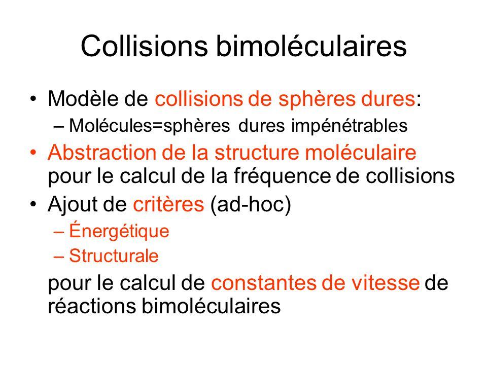 Collisions bimoléculaires