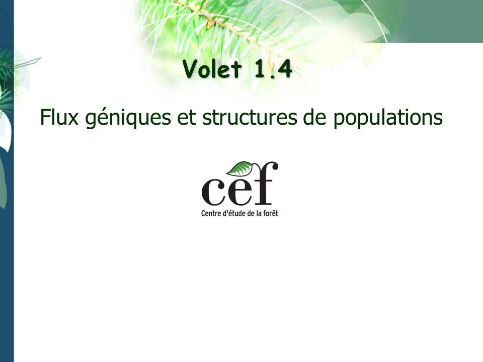 Volet 1.4 Flux géniques et structures de populations