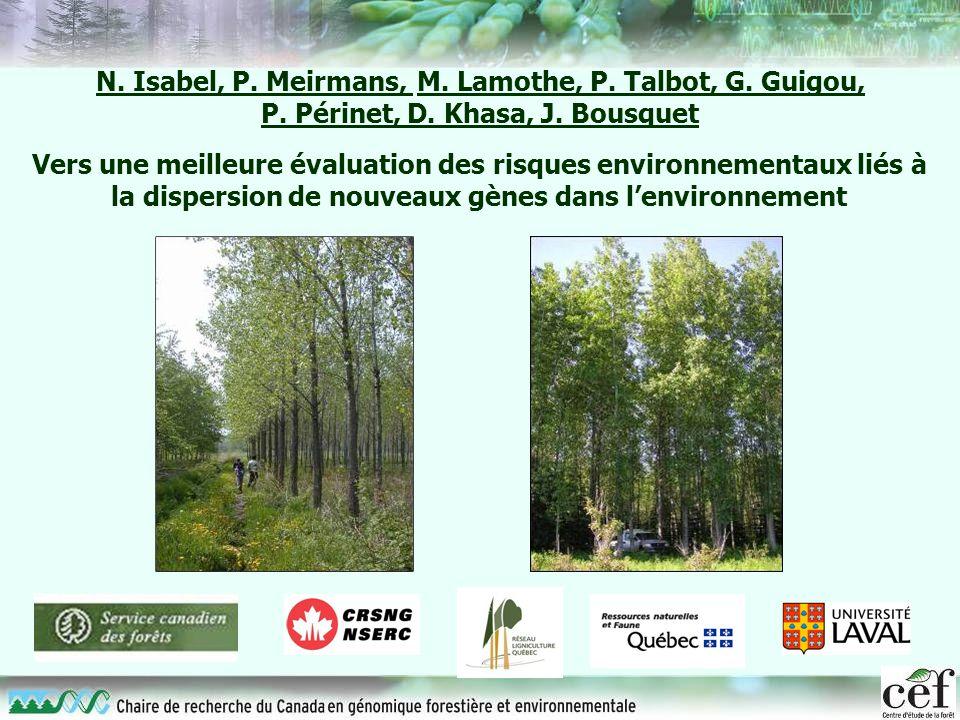 N. Isabel, P. Meirmans, M. Lamothe, P. Talbot, G. Guigou,