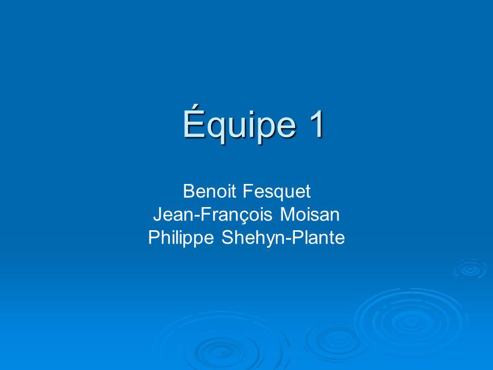 Benoit Fesquet Jean-François Moisan Philippe Shehyn-Plante