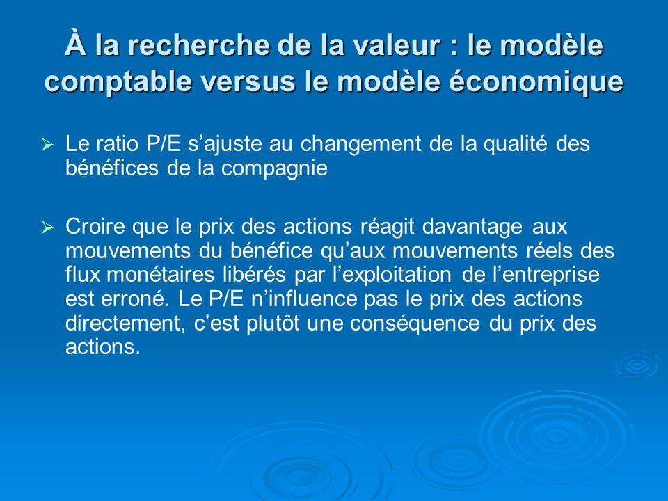 À la recherche de la valeur : le modèle comptable versus le modèle économique