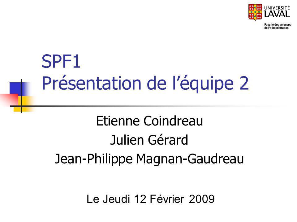 SPF1 Présentation de l'équipe 2