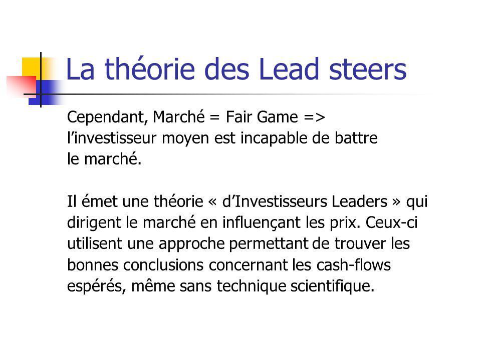 La théorie des Lead steers