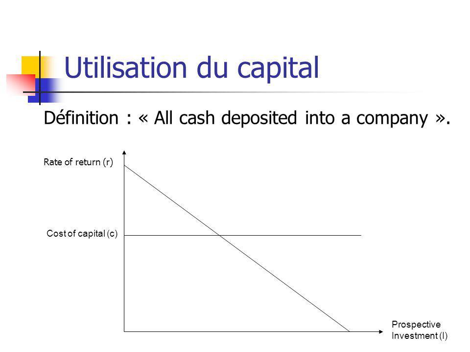 Utilisation du capital