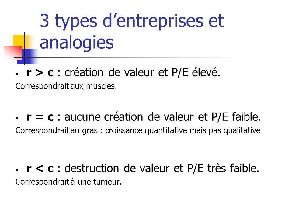 3 types d'entreprises et analogies