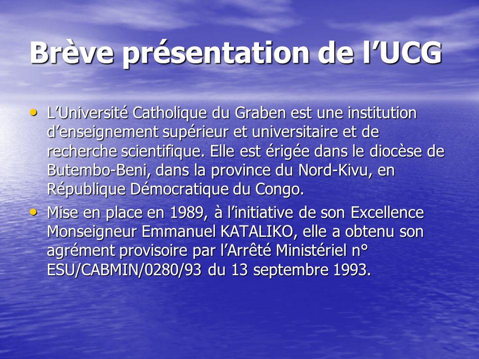 Brève présentation de l'UCG