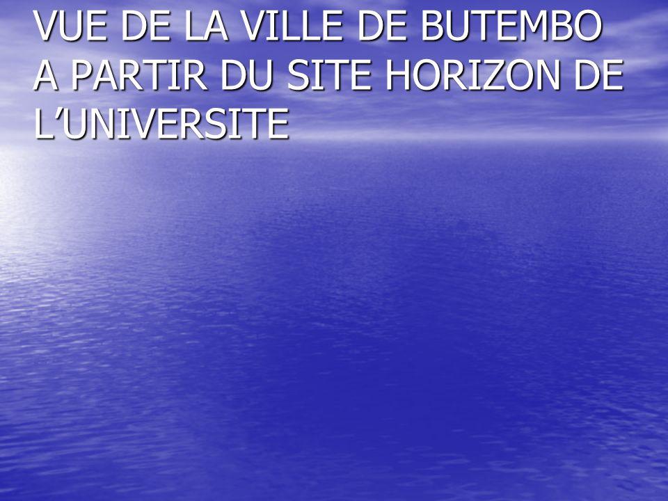 VUE DE LA VILLE DE BUTEMBO A PARTIR DU SITE HORIZON DE L'UNIVERSITE