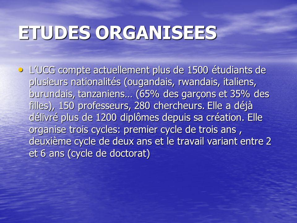 ETUDES ORGANISEES