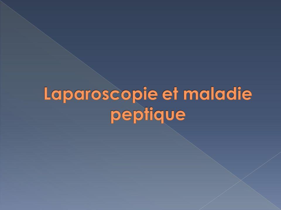 Laparoscopie et maladie peptique