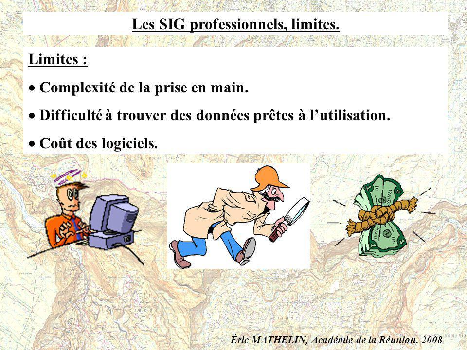 Les SIG professionnels, limites.