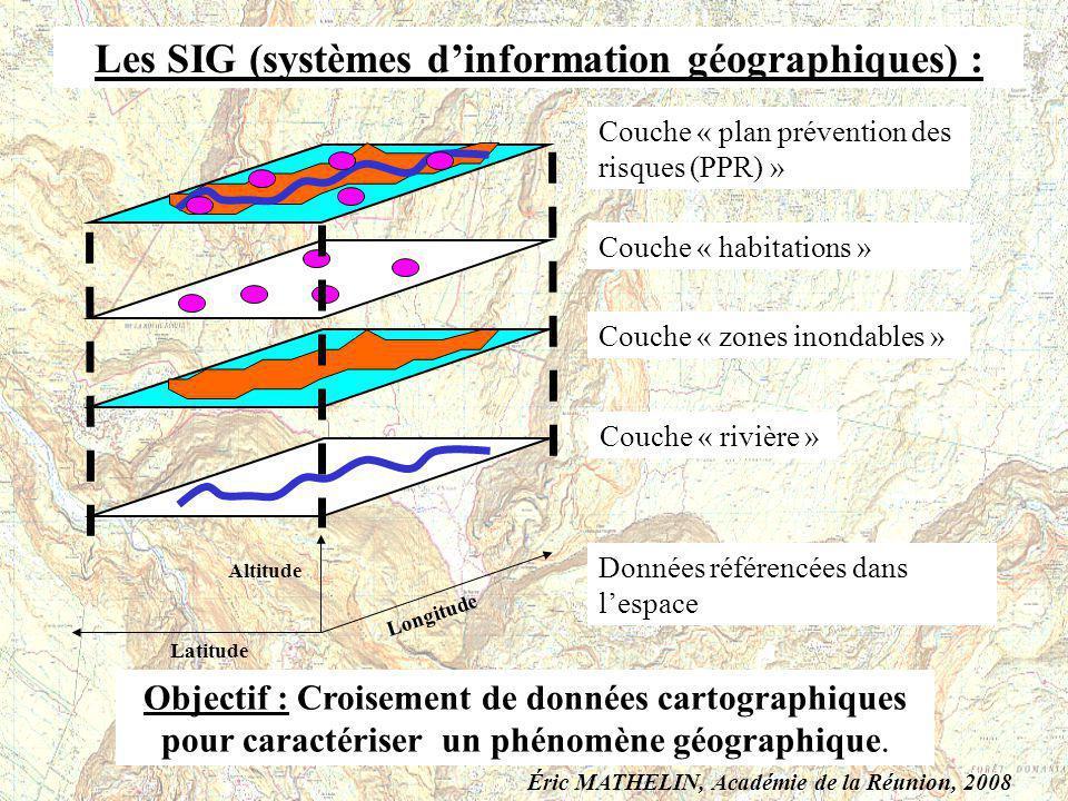 Les SIG (systèmes d'information géographiques) :