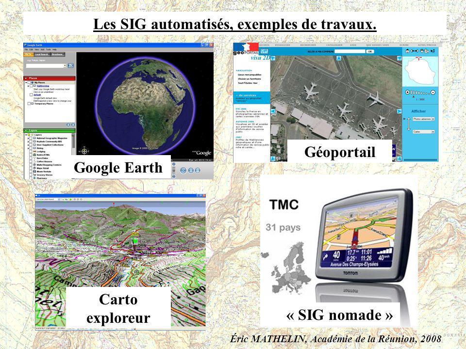 Les SIG automatisés, exemples de travaux.