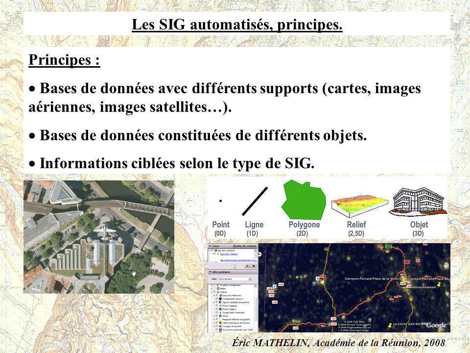Les SIG automatisés, principes.