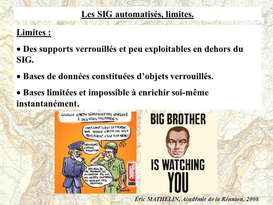Les SIG automatisés, limites.