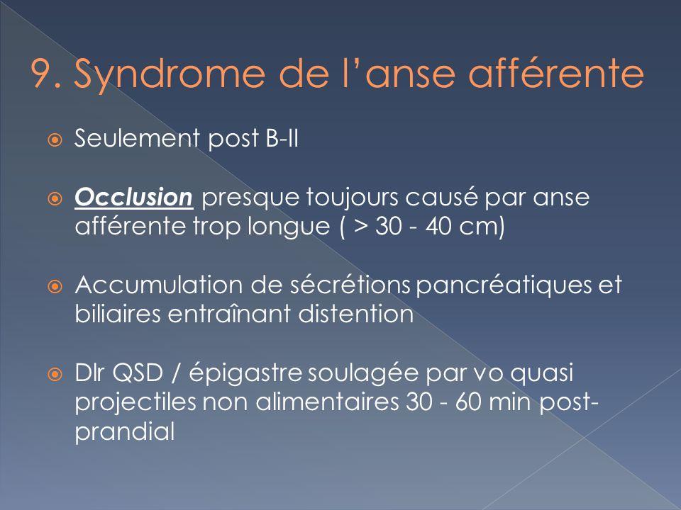 9. Syndrome de l'anse afférente
