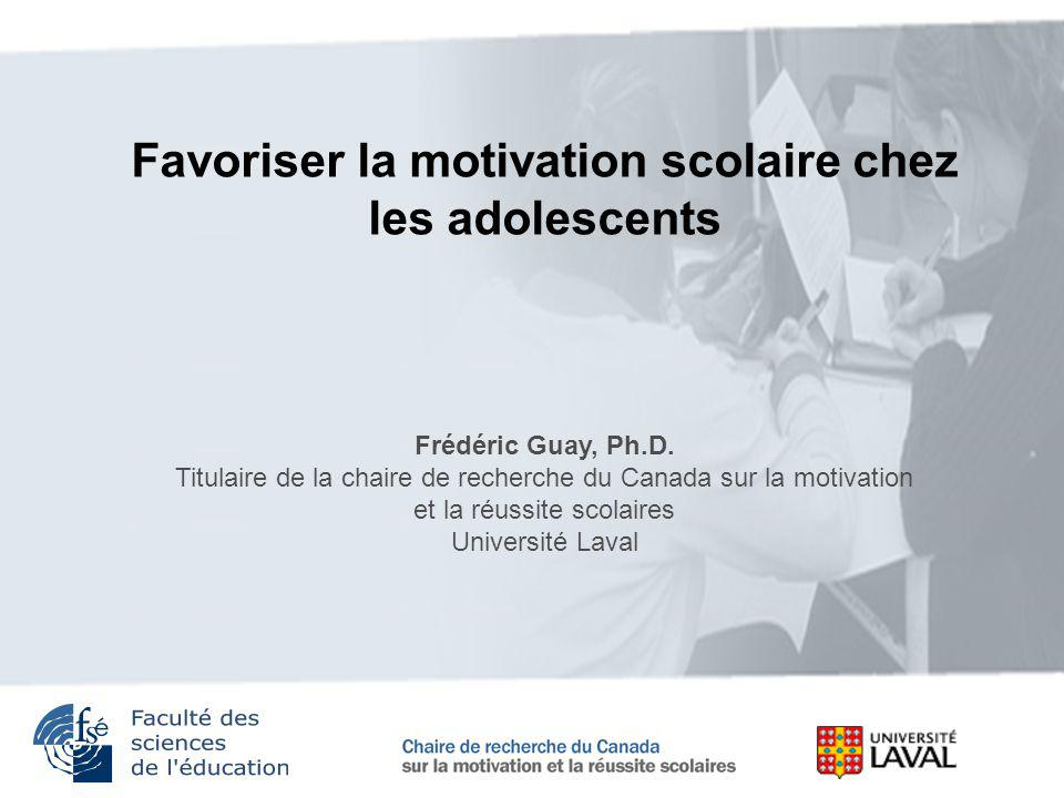 Favoriser la motivation scolaire chez les adolescents