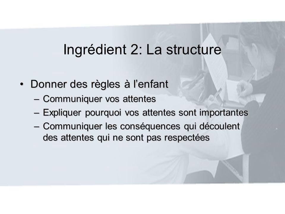 Ingrédient 2: La structure
