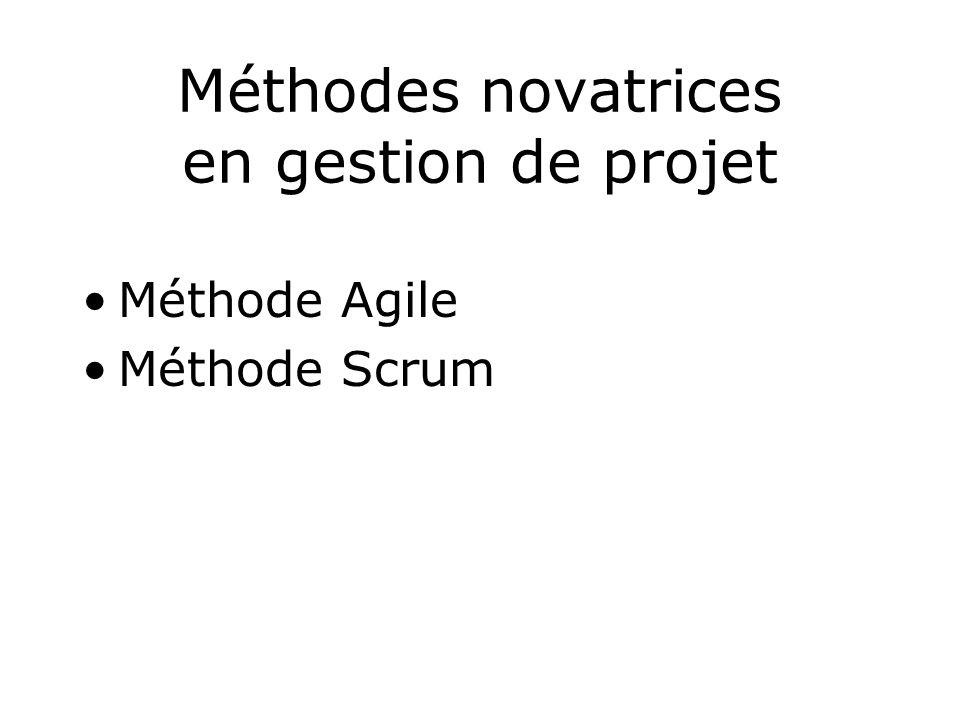 Méthodes novatrices en gestion de projet