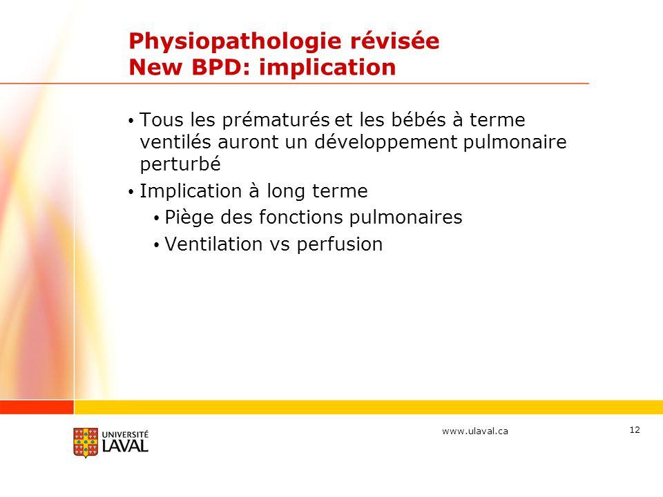 Physiopathologie révisée New BPD: implication