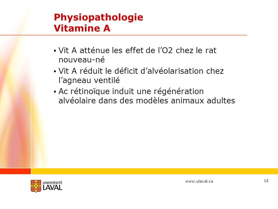 Physiopathologie Vitamine A
