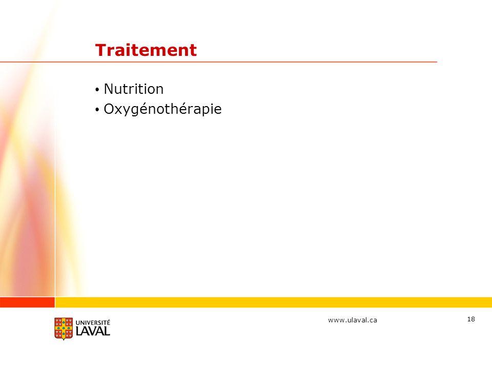 Traitement Nutrition Oxygénothérapie