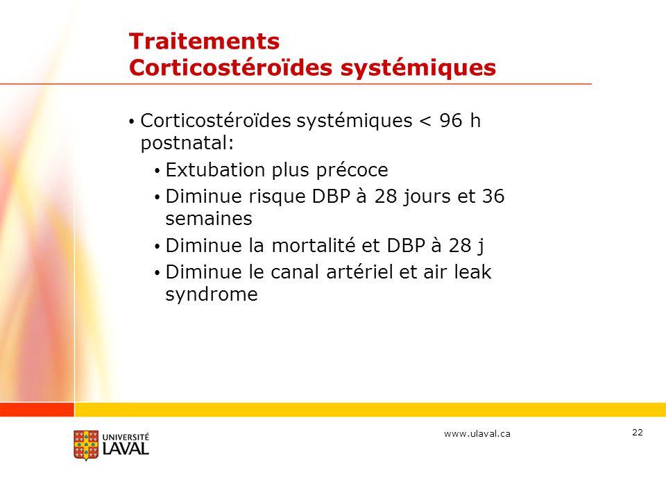 Traitements Corticostéroïdes systémiques