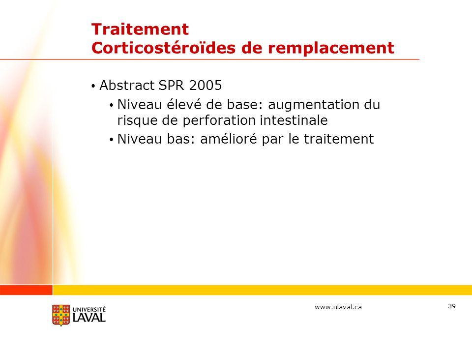 Traitement Corticostéroïdes de remplacement